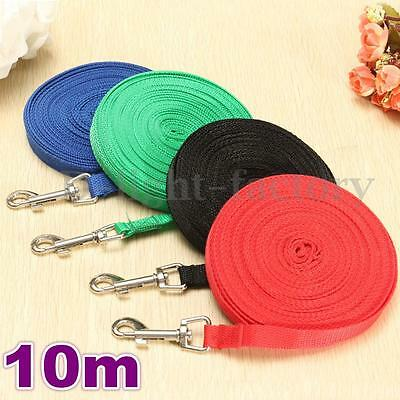 10 Metre Nylon Pet Puppy Dog Lead Leash Long Line Walking Training Rope Strap