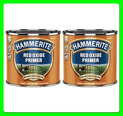 Hammerite Red Oxide Primer [5092844] for Rusty Iron and Steel 500ml