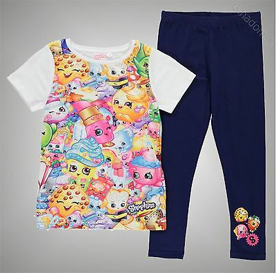 Infant Girls Character Graphic Shopkins T Shirt And Leggings Set Size Age 4-13