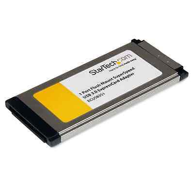 Startech 1 Port Flush Mount ExpressCard SuperSpeed USB 3.0 Card Adapter with UAS