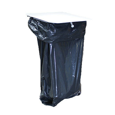 Blue Wall Mounted Garden Recycle Garbage Waste Rubbish Bin Bag Sack Holder with Lid