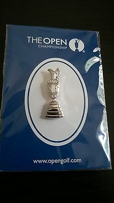 The Open Champioship golf pin badge. (all metal pin badge)