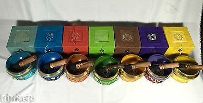 7 Chakra Color Gift Set Singing Bowl in Color Box