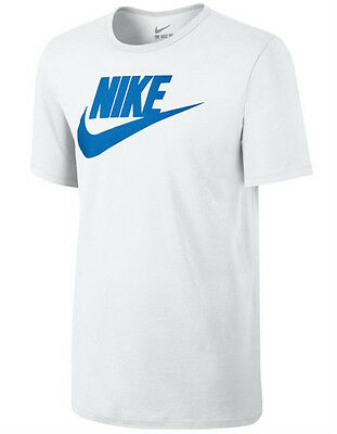 New Men's Nike Large Swoosh Logo Fitted T-Shirt, Top - White