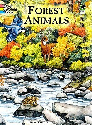Coloring Book For Adults Forest Animals Pattern Stress Relieving Relaxing Paint