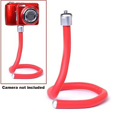 Twist Mount Flexible Camera / Small Camcorder Mount Household Fastener Red
