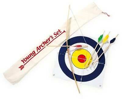 Wooden Archery Set Kids Bow And Arrow Fun Toy Target Aiming Game