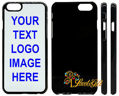 PERSONALISED PHONE CASE COVER(BLCK)PRINTED/CUSTOM PICTURE LOGOTEXT iPhone 6/6s/7