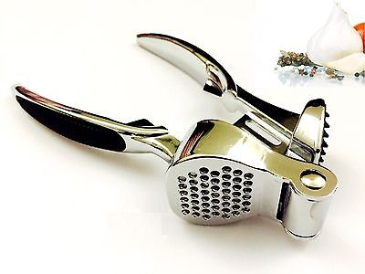 Heavy Duty Professional Stainless Steel Garlic Press Crusher
