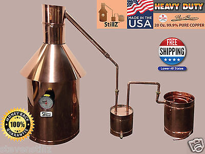 Moonshine Still 10 Gallon - StillZ Heavy Duty Copper Still+Thumper+Worm