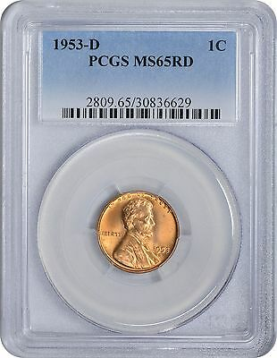 1953-D Lincoln Cent MS65RD PCGS 65 Red Mint State