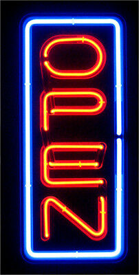 Vertical Neon Open Sign / Light - Open Signs - Restaraunt Business Bar