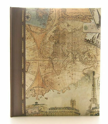 Old World Map Design Holiday Series Photo Album 200 Photos-2 Size Picture