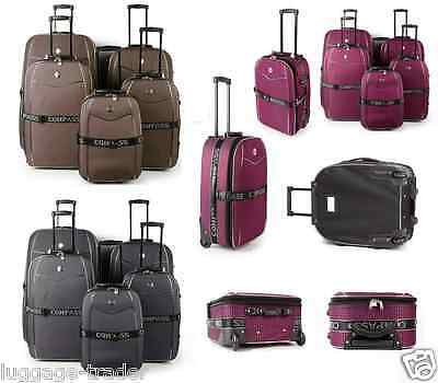 Lightweight Large Medium Small Cabin Travel Trolley Luggage Suitcase Bag 5 Case