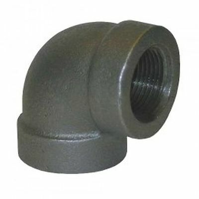 "1"" Black Malleable Iron 90 Degree Elbow Plumbing Fitting Pipe Npt"