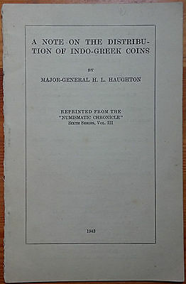 LAC Haughton H.L., A Note on the Distribution of Indo-Greek Coins