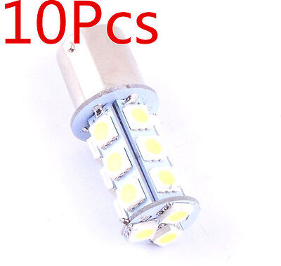 10pcs 1156 BA15S 5050 18SMD LED Light Bulbs Interior RV Camper White 7506 1141