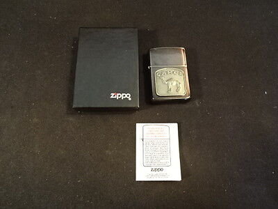 1990 Zippo Cigaratte Lighter Camel In Original Box & Paperwork