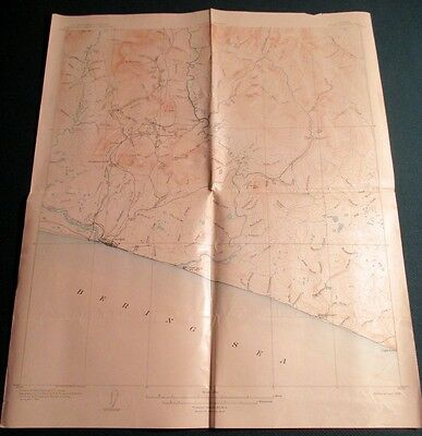 1906 US Geological Survey Topo Map Special Map Nome Alaska Alfred Brooks