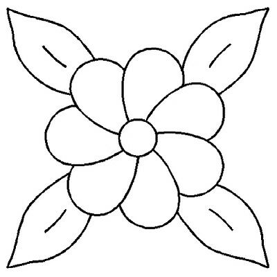 """6"""" Flower Stencil by QCI - 0395 - Painting - Art - Crafts"""