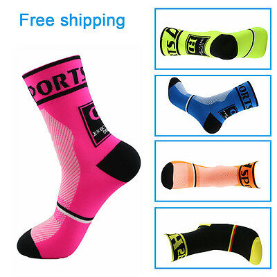 Men Women Riding Cycling Sports Socks One Pairs Breathable Bicycle Footwear