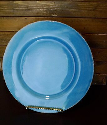WILLIAMS SONOMA RUSTIC DECOR Serving Platter-Charger-Hand Crafted in Italy-Aqau
