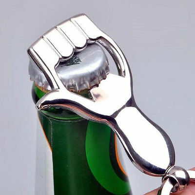 New Designer Silver Color Thumb Up Hand Keychain Key Ring Beer Bottle Opener