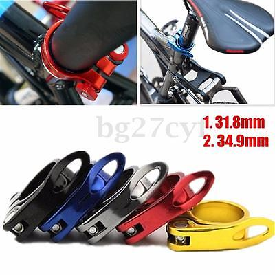 31.8/34.9mm Alloy Cycling Bicycle Quick Release QR Seat Post Bolt Binder Clamp