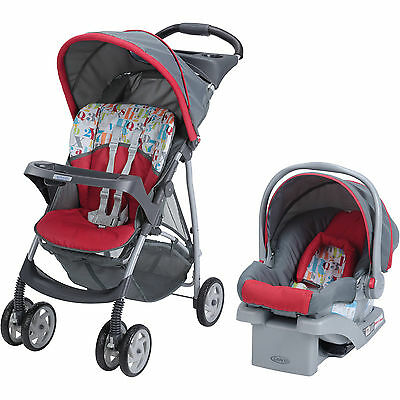 Baby Travel System Stroller Infant Car Seat Toddler Click Connect Carseat Combo