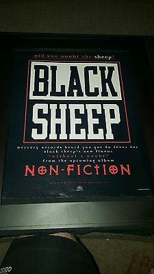 Black Sheep Non-Fiction Rare Original Promo Poster Ad Framed!