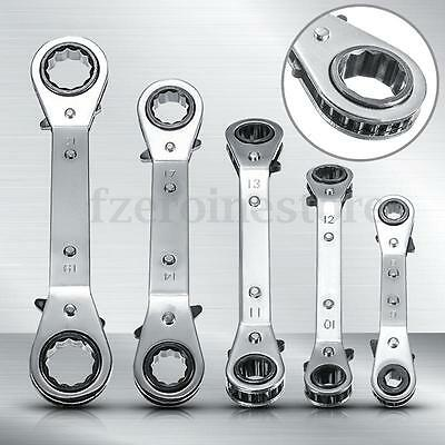 5 Tipos Llaves Combinadas Trinquete Anillo Doble Ratchet Wrench Spanner 6mm-21mm