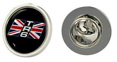 Triumph TR6 Union Jack Logo Clutch Pin Badge Choice of Gold/Silver