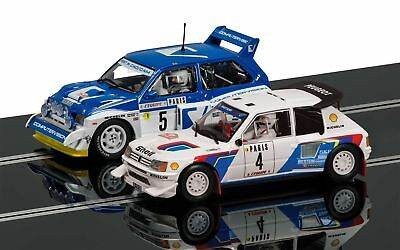 Scalextric Classic Collection Peugeot 205 T16 E2 & MG Metro 6R4 - C3590A