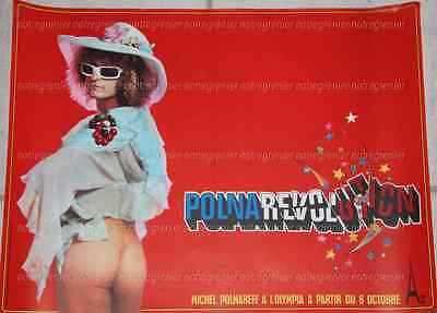 Rare Affiche Originale Non Censuree Michel Polnareff Polnarevolution 1972