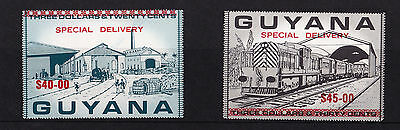Guyana (Express) - 1986 Railways Surch Special Delivery - U/M - SG E12+13