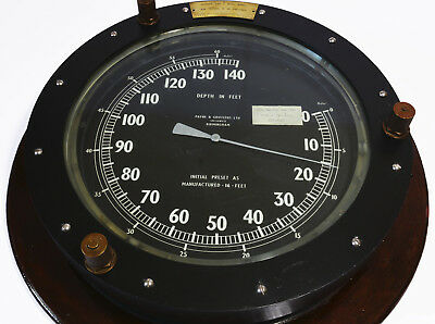 WW2-era submarine depth gauge as deployed in 'A' class subs. Immense proportions