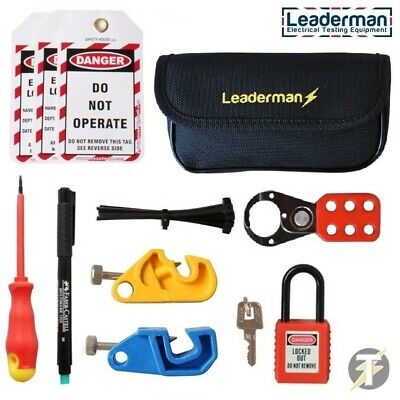 Leaderman Lock Out/Off Kit 2 for Consumer Unit MCB/RCD Isolator Switch LOS-K2