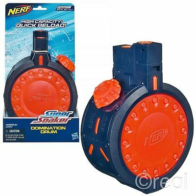 New Nerf Super Soaker Domination Drum Water Clip 37oz Quick Reload Official