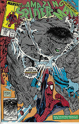 AMAZING SPIDERMAN 328...NM-...1990...The Hulk!...Todd McFarlane...Bargain!