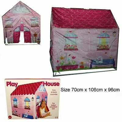 NEW Girls Childrens Pink Princess Play Wendy House Outdoor Garden Tent Toy-36075