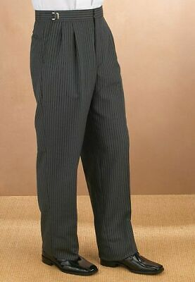 NEW Mens HICKORY STRIPE Victorian Morning Suit Cutaway Trousers Formal Pants