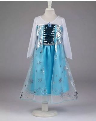 Girls Frozen Elsa  Costume Party Birthday Dress size 10/12 Yr