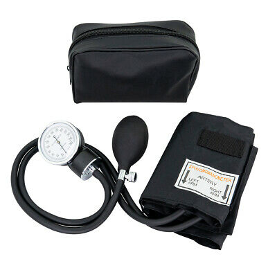 LINE2design Aneroid Adult ARM Blood Pressure Cuff With Case-Black FDA Approved