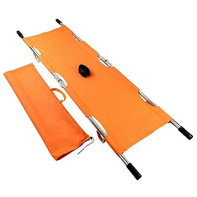 LINE2design Folding Stretcher - Emergency Patient Transport Stretcher - Orange