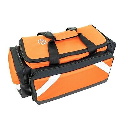 Elite EMS - Paramedic Trauma Bag with Shoulder Strap and Reflective Trim Orange