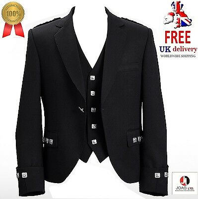 """Argyle jacket and vest Black color Wool Polyester Mixed size 38"""" to 52"""""""