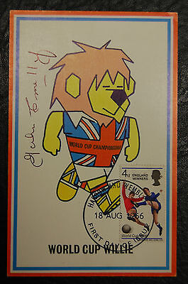 John Connelly Signed 1966 England World Cup Willie Original Postcard