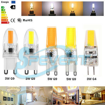 Mini G4 G9 (Non)Dimmable LED Corn Bulb 3W 5W Silicone Crystal SMD/COB Lamp Light
