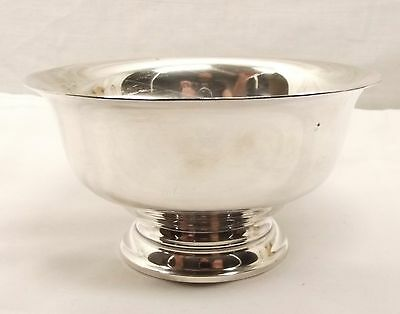 Vtg Sterling Silver S Kirk & Son Footed Bowl Dish No 176 No Mono Revere Style