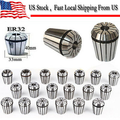 ER32 19 PCS Spring Collets Set 2-20mm ER32 Collet For CNC Engraving Machine LS